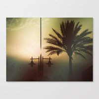 Mysterious sunset Canvas Print