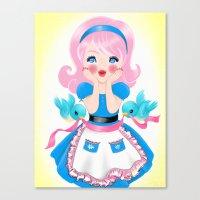 Cutie's Kitchen Surprise Canvas Print