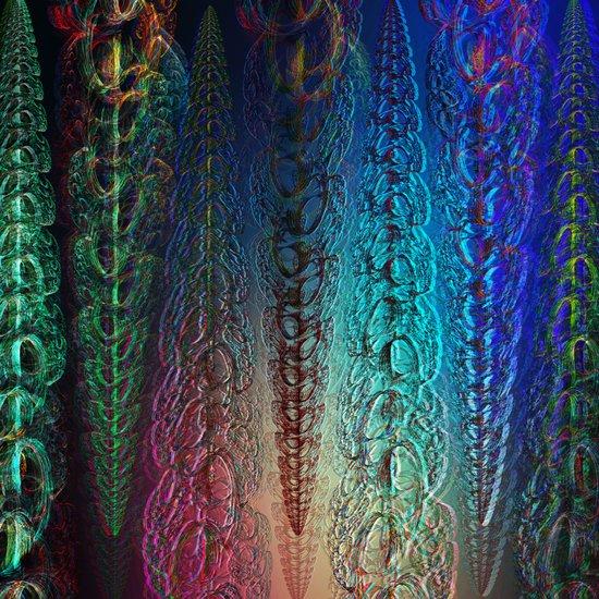 Colorful Garlands Art Print