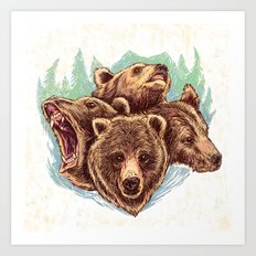 Four Bears Art Print