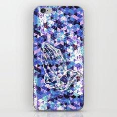 Prayer Prism (blue) iPhone & iPod Skin