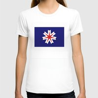 hokkaido region flag japan prefecture Womens Fitted Tee White SMALL
