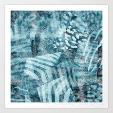 Blue safari Art Print