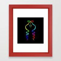 Two Gay Dancing Cobras  Framed Art Print