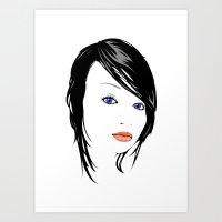 minimal girl 1 Art Print