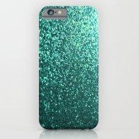 Teal Aqua Glitter Sparkl… iPhone 6 Slim Case