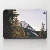 Snow Mountain In The Tre… iPad Case