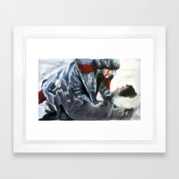 fire and ice II Framed Art Print