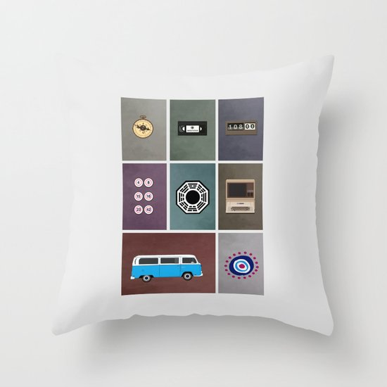 lost colors Throw Pillow