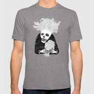Skull Head Mens Fitted Tee Tri-Grey SMALL