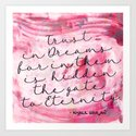 Trust in Dreams calligraphy Art Print
