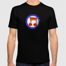 Music Mod Black SMALL Mens Fitted Tee