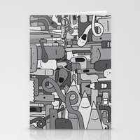 Pile De Monstres - Black… Stationery Cards