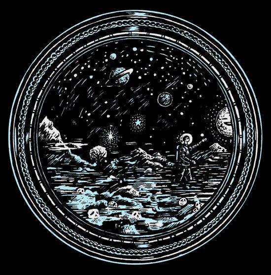 Miniature Circle Landscape 2: Astronausea.. Art Print