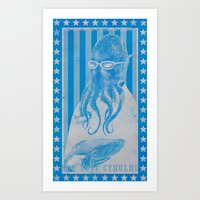 God Vote Cthulhu Art Print