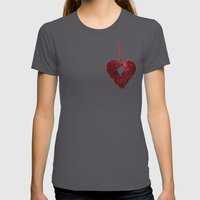 Loving Red Womens Fitted Tee Asphalt SMALL