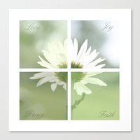 Boxed faith Daisy Canvas Print