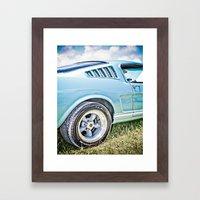 1966 Ford Mustang Fastback Car Framed Art Print