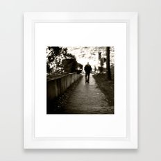 man on path i saw one afternoon Framed Art Print