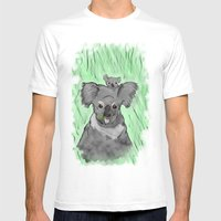 Koalas Mens Fitted Tee White SMALL