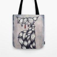 Her Owl Hair Tote Bag