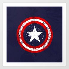 Captain's America splash Art Print
