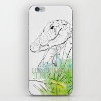 Lloras con lágrimas de cocodrilo (you cry with cocodrile tears) iPhone & iPod Skin