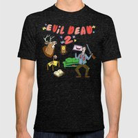 ♥ EVIL DEAD 2 ♥ Mens Fitted Tee Tri-Black SMALL