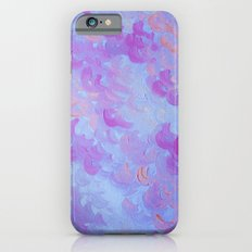 PURPLE PLUMES - Soft Pastel Wispy Lavender Clouds Lilac Plum Periwinkle Abstract Acrylic Painting  Slim Case iPhone 6s