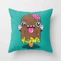 Brain Freeze Throw Pillow
