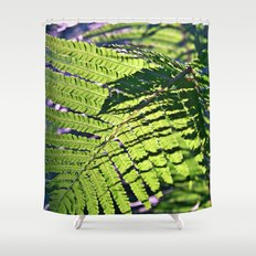 Summer Fern in Sunny Dreams Shower Curtain