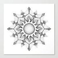 Dotwork Mandala Canvas Print