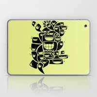 Happy Squiggles - 1-Bit Oddity - Black Version Laptop & iPad Skin