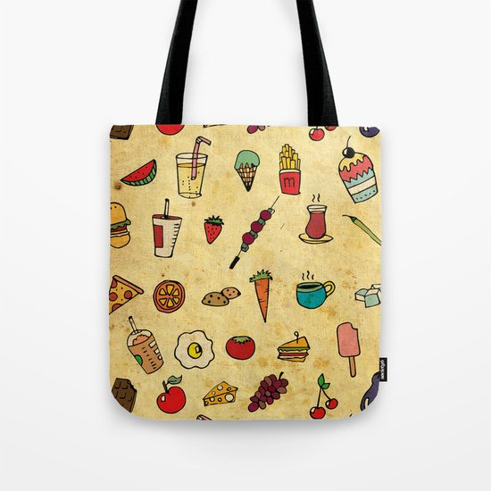 Food Love Pattern Tote Bag