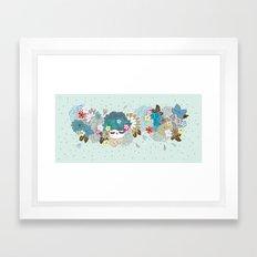 Kokeshina - Hiver / Winter Framed Art Print