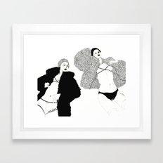 Touch Me Here Framed Art Print