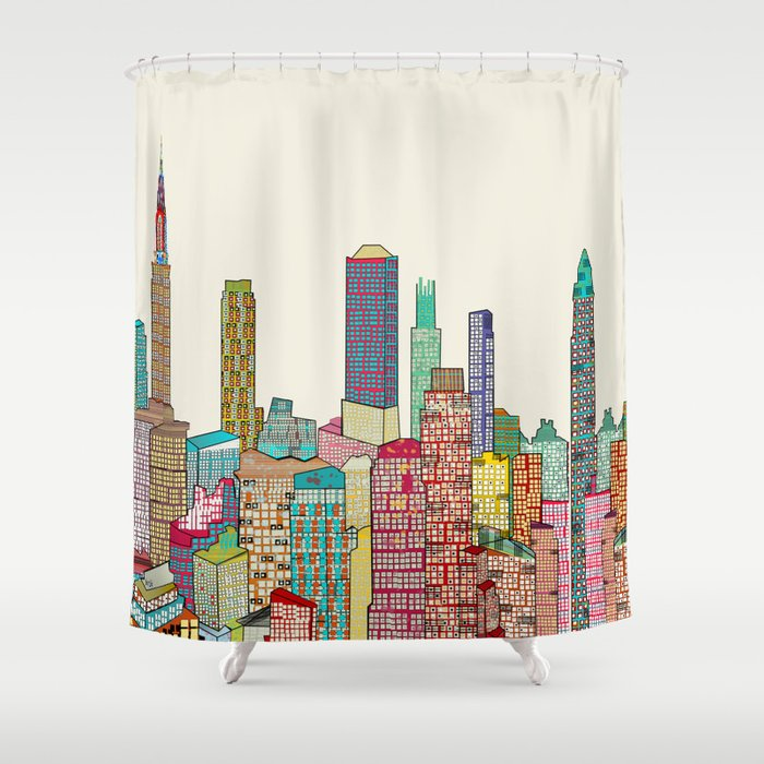 New York Modern Shower Curtain By Bribuckley