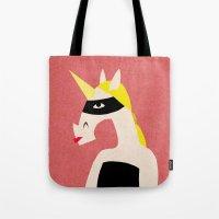 Masked Unicorn Tote Bag