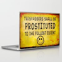 Laptop & iPad Skin featuring TRESPASSERS - 06 by Lazy Bones Studios