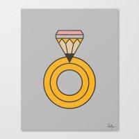 Draw Ring Canvas Print