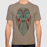 owl colour Mens Fitted Tee Tri-Coffee SMALL