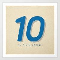 10 Il Divin Codino Art Print