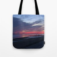 Magic Summer Sunset on the West Coast of DENMARK Tote Bag