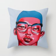 Throw Pillow featuring AUSTIN by Zelda Bomba