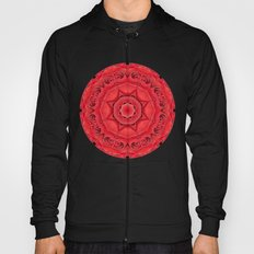 Beautiful Red Rose Mandala Hoody