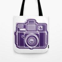 I Still Shoot Film Holga Logo - Deep Purple Tote Bag