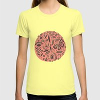 Bloom Circle Womens Fitted Tee Lemon SMALL
