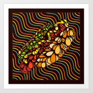 Art Print featuring Hot Dog by Maxime Roy