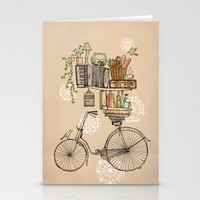 bicycle Stationery Cards featuring Pleasant Balance by florever