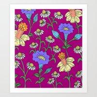 Mixed Floral Garden Art Print